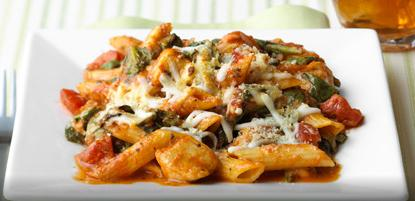 three-cheese-chicken-penne-pasta-bake